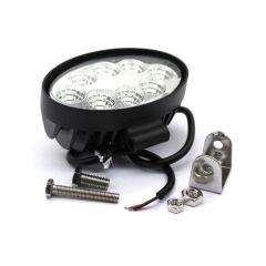 LAMPA RADNA ELIPSA LED 24W (8X3W), 9-32V, 1400 LUMENA, VODOOTPORNO ALUMINIJSKO KUĆIŠTE IP68, 145X125