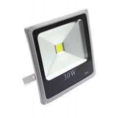 REFLEKTOR LED  30W 230V IP 66, 2100 LUMENA, 6500 K SIVO-CRNI