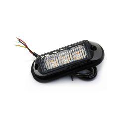 LAMPA POZICIONA STROBO LEDx3 NARANČASTA 12/24V 106X35X28mm R65 R10