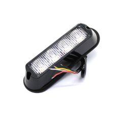 LAMPA POZICIONA STROBO LEDx4 NARANČASTA 12/24V 133X35X28mm R65 R10