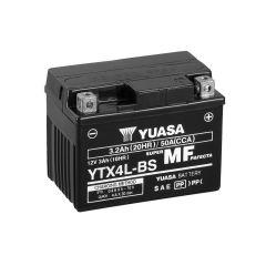 AKUMULATOR MOTO YUASA 12V  3,2 Ah D+ YTX 4L-BS S ELEKTROLITOM 114X71X86 JAMSTVO 12 MJESECA