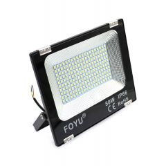 REFLEKTOR LED  50W (20x10 LED) 230V IP 66, 4500 LUMENA, 6500 K CRNI