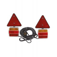 LAMPA STOP L+D LED NARAN/CRV, MAGNET 7,5M GARN. S KATADIOP.  (ŽMIGAVAC,POZICIJA,STOP) 12/24V 95X105