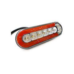 LAMPA STOP KAMION LED 165X58mm POZICIJA, STOP, ŽMIGAVAC, RIKVERC OVALNA 12/24V UNIV. LIJEVA/DESNA