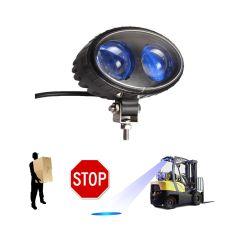 LAMPA LED 8W (2X4W) PLAVA SIGURNOSNA CREE LED ZA VILIČAR,10-110V,VODOOTPORNO ALU KUĆIŠTE IP67