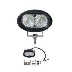 LAMPA RADNA ELIPSA LED 20W (2X10W) VISOKI INTEZITET CREE LED, 9-32V,1800 lm, IP68 ALU, 102mm