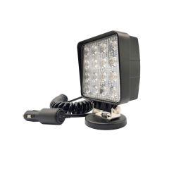 LAMPA RADNA KVADRATNA LED 48W (16X3W), 10-30V, 3520 LUMENA, 6000K, VODOOTP. ALU. KUĆIŠTE IP68